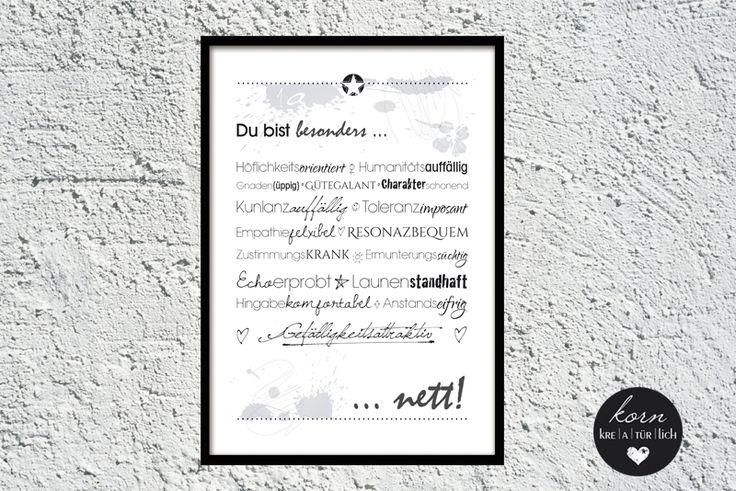 Wortschöpfung Nett von korn kreatürlich auf DaWanda.com