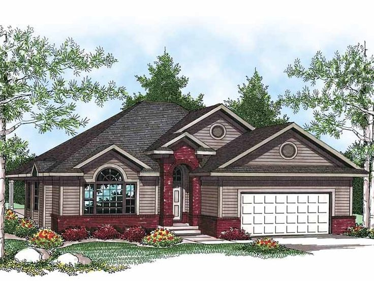 25 best images about brick ranch homes on pinterest for 3 car garage house plans ranch house