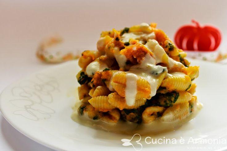 #Gnocchetti #sardi alla #zucca e #spinaci con salsa alla #toma #Piemontese e #Parmigiano http://www.cucinaearmonia.com/2014/11/gnocchetti-sardi-alla-zucca-spinaci.html #food #foodblogger #cucinaearmonia