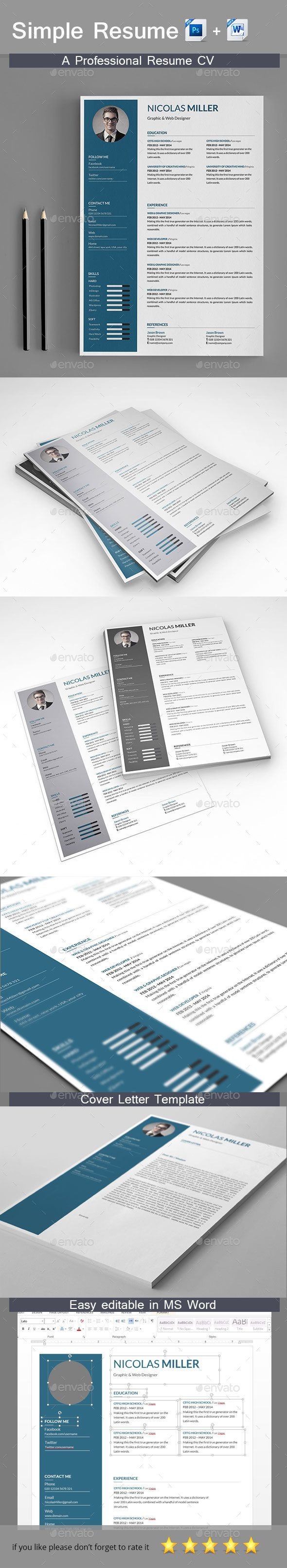 Best 25 Curriculum Vitae Simple Ideas On Pinterest Plantilla