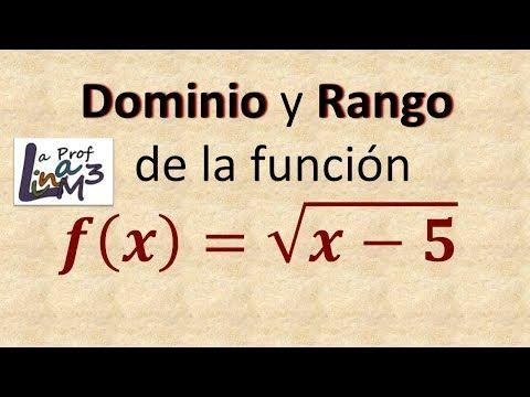 Dominio y rango de una función radical | Ejercicio 2 | La Prof Lina M3 - YouTube