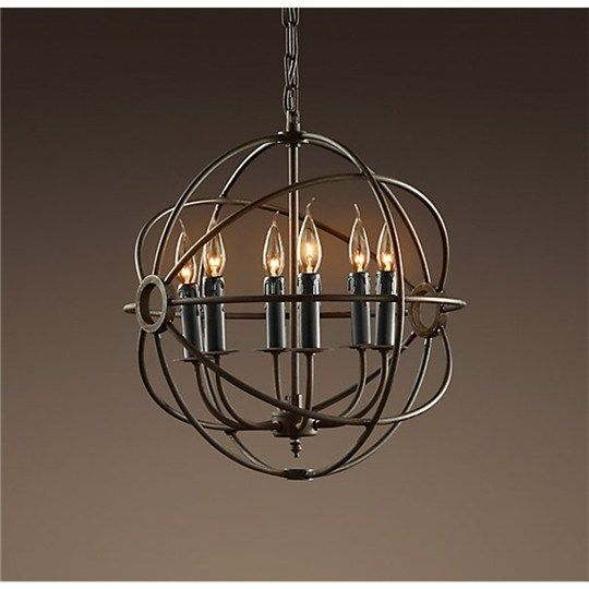 Foucault Rustic Iron Orb Chanderlier - Small - Pendants - Ceiling Lights - Chandeliers - Ceiling Lights - $215
