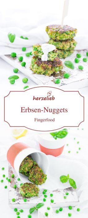 Fingerfood Rezepte, Erbsen Rezepte: Erbsen Nuggets sind ein außergewöhnliches Fingerfood. So lecker, einfach und leicht
