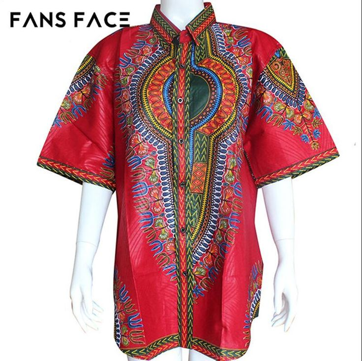 Mens African Clothing African Clothes For Men Short Sleeve Traditional Pattern Plus Size Dashiki Top African Dresses For Women