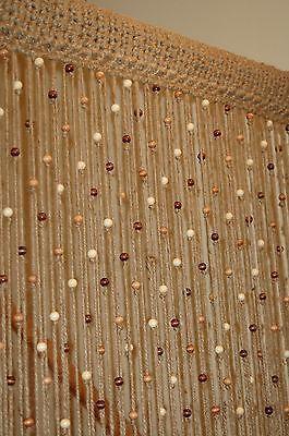 32u0027u0027 X 76u0027u0027 Handmade Natural Jute Crochet With Wooden Beads Door Way
