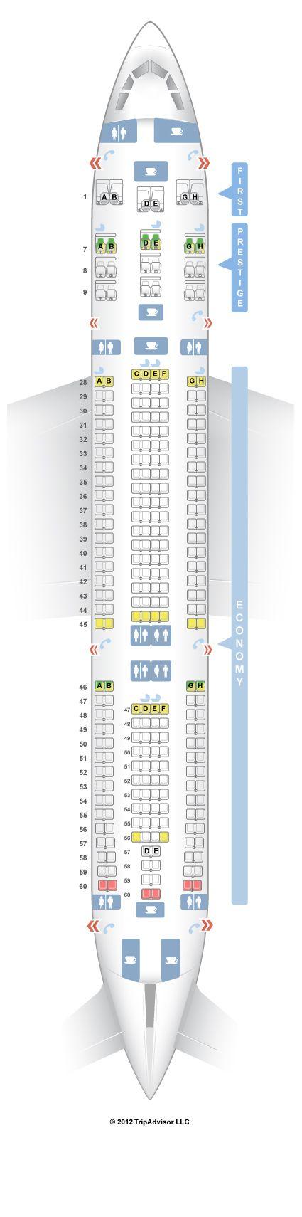 SeatGuru Seat Map Korean Air Airbus A330-300 (333) - SeatGuru