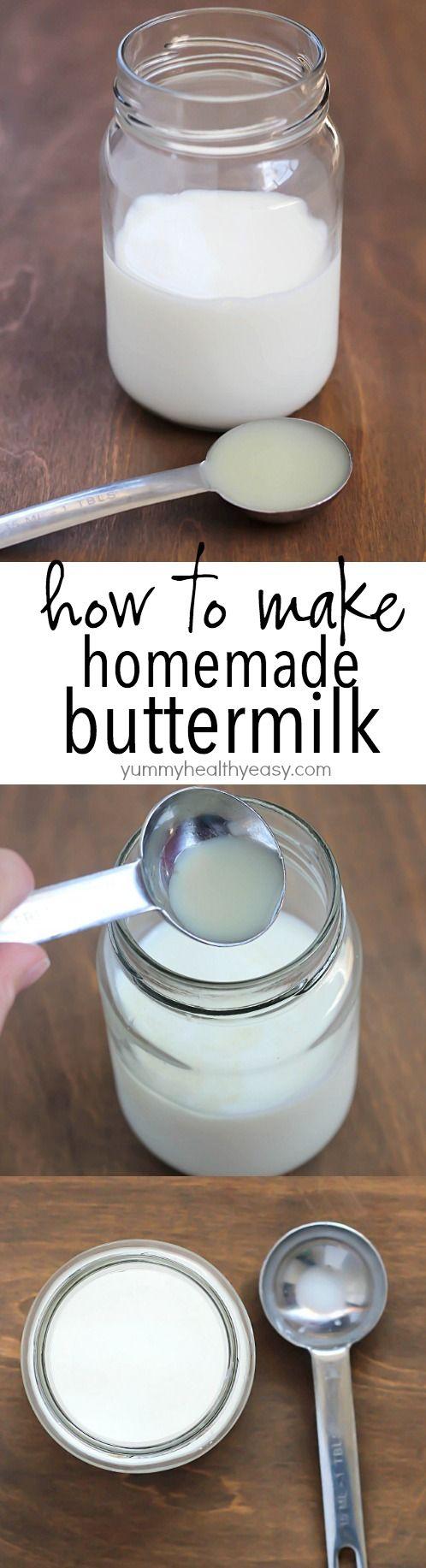 How to make Homemade Buttermilk (AKA / Sour Milk)