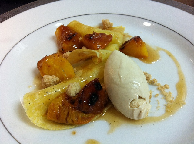 ... Peaches, Hot Buttered Rum, Spiced Streusel, & Brown Sugar Ice Cream