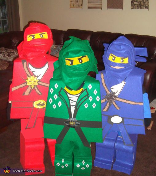 LEGO Ninjago: Jay, Kai & Lloyd - Halloween Costume Contest via @costumeworks