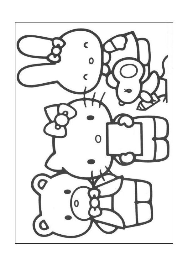 Desenhos para pintar Hello Kitty 29