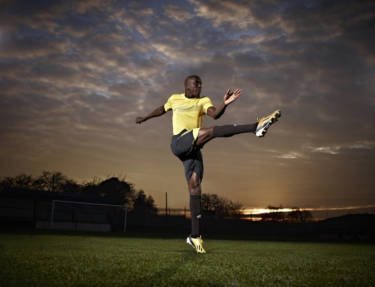 Demba Ba looking good in the #adidas F50 adizero.