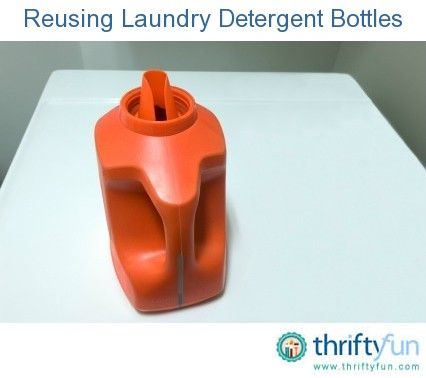 This guide is about reusing laundry detergent bottles. Before throwing that sturdy detergent bottle into the trash, you can consider ways to use it for something else.