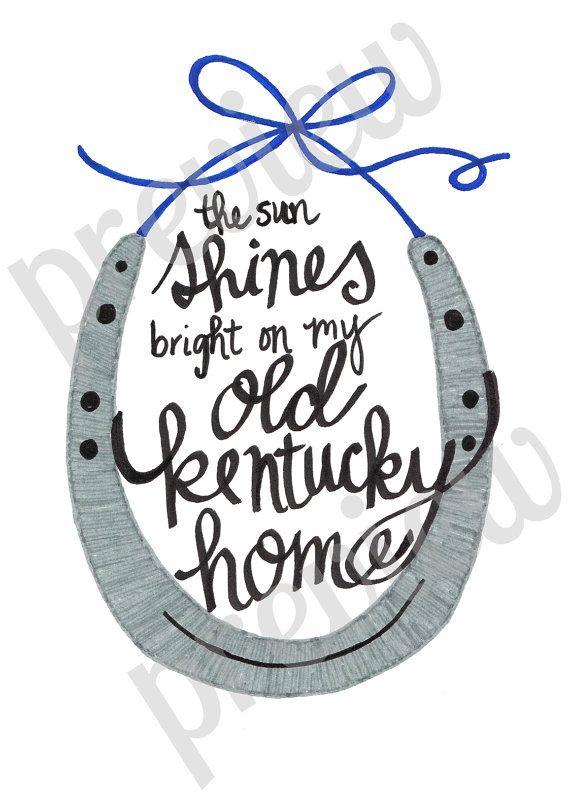 My Old Kentucky home printable- Shop Little Mrs. Fancy Pants!