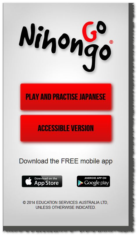 NihongoGo is a fun, educational and easy to use app for learning Japanese anywhere, anytime! Available via your browser http://www.nihongogo.edu.au/; as an Android app http://bit.ly/NihongoGoDroid - and Apple app http://bit.ly/NihongoGoApple