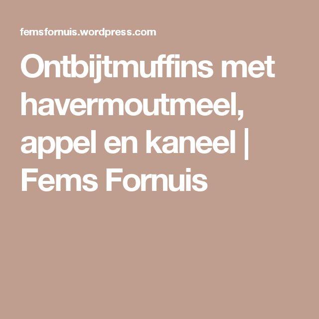 Ontbijtmuffins met havermoutmeel, appel en kaneel   Fems Fornuis