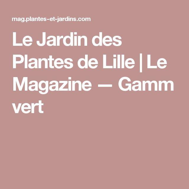 le jardin des plantes de lille | le magazine — gamm vert | plantes