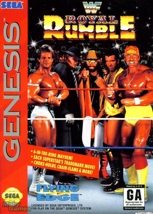 WWF Royal Rumble Genesis Front Cover