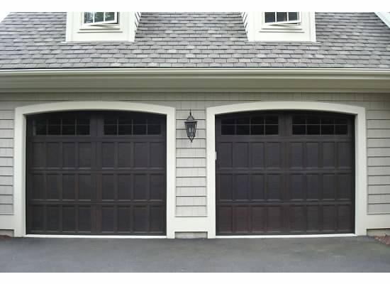 Garage Doors   Wayne Dalton 16 Lite Arched Top In Walnut, Model 9700