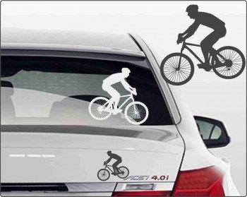 Mountenbike Sticker fürs Auto