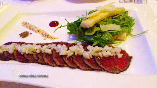Bison Carpaccio From The Fairview Dining Room At The Fairmont Chateau Lake  Louise