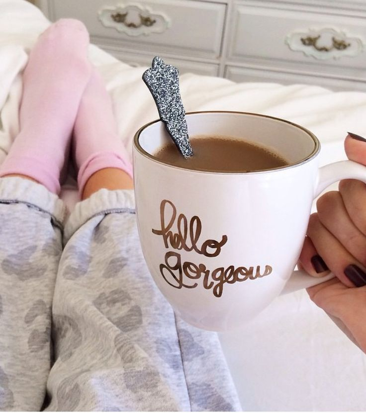 #cute #coffee #onthebed