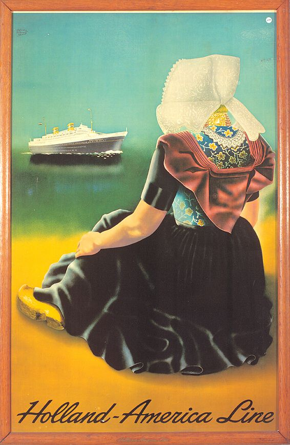 Poster Holland America Line, 1949. Images courtesy Holland America Line.