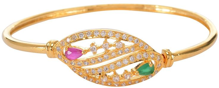 Buy multi color Gold Plated bangle Bracelet for Women Online at Low Prices in India | Amazon Jewellery Store - Amazon.in