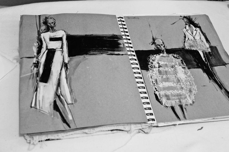 Fashion Sketchbook - fashion design drawings; fashion sketches; fashion portfolio layout // Peter Do