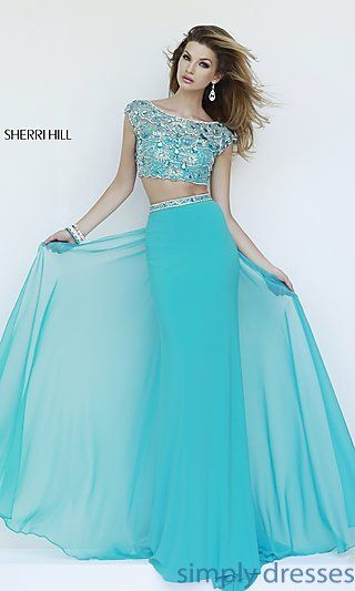 Embellished Two Piece Sherri Hill Dress at SimplyDresses.com