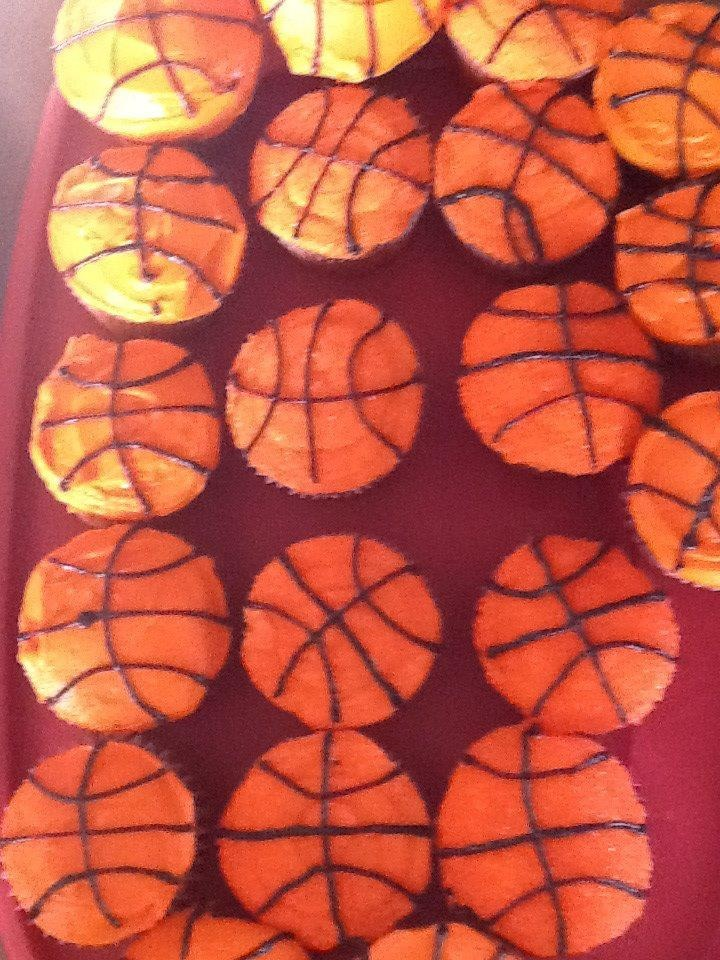 SOME MORE OF BASKETBALL CUPCAKES FOR SENIOR NIGHT