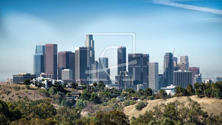Skyline von LA  Die weltbekannte Skyline von Los Angeles. Bei einem Besuch sollte man sich diesen Anblick nicht entgehen lassen.