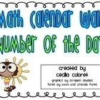 Math Calendar Wall: Number of the Day