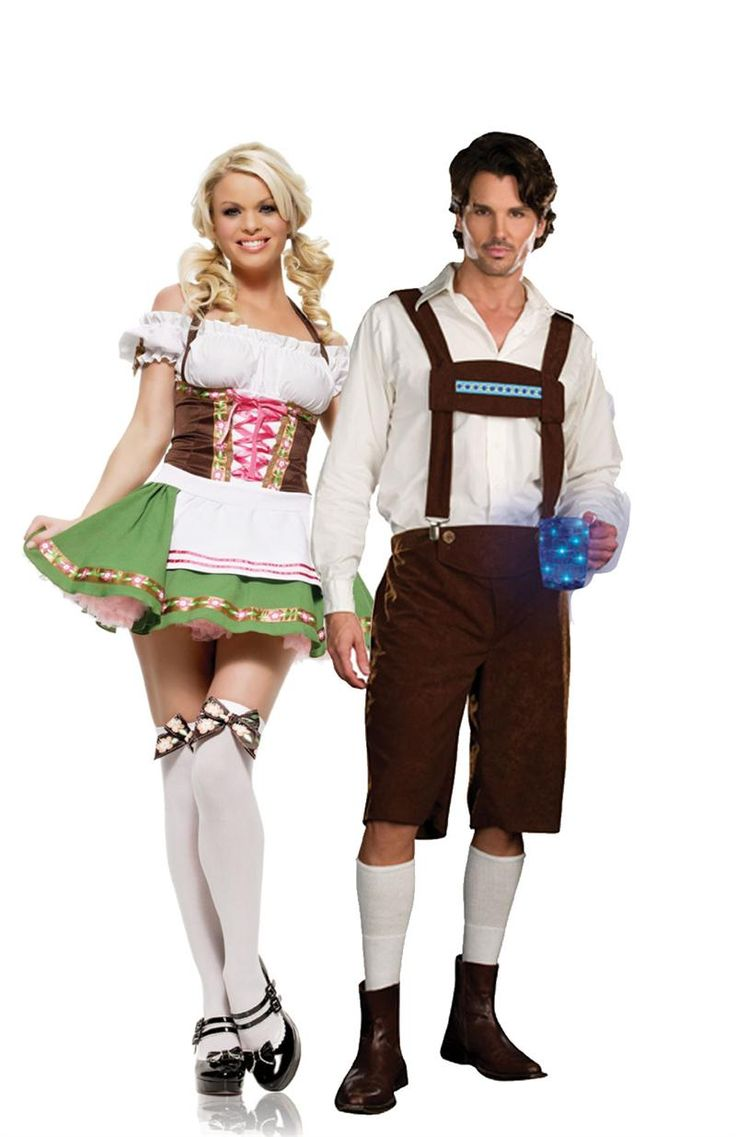 German Lederhosen Couples Costume