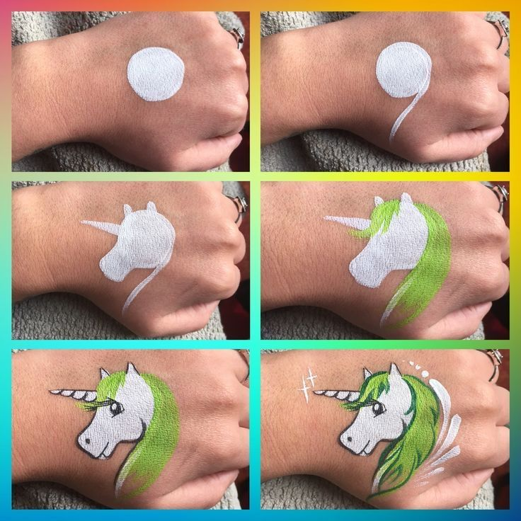Step by step unicorn