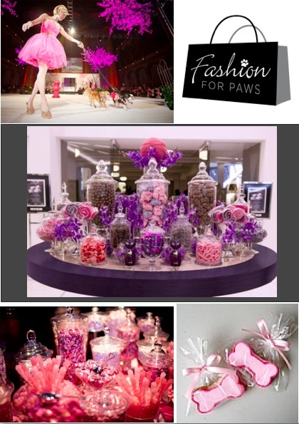Purple Candy bar for a fundraiser. Wedding candy bar inspiration
