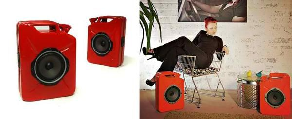 Audiophiles can probably appreciate how some speakers or headphones are handcrafted, meaning that the wiring, the fitting, the soldering, etc are all done by hand as opposed to being churned out by a huge machine. With these Jerrycan Gas Can Speakers they are pretty much made by hand as well, although we're not sure if the somewhat premium asking price is worth it.
