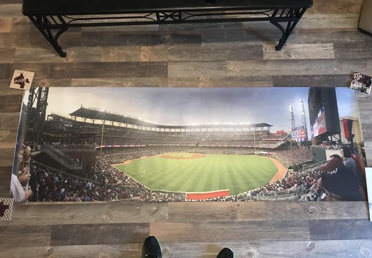 Looking for advice on selling this. 24x72 Canvas print of Suntrust Park Opening Day Atlanta Braves