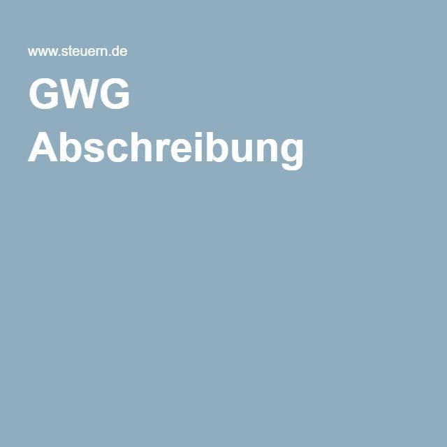 GWG Abschreibung