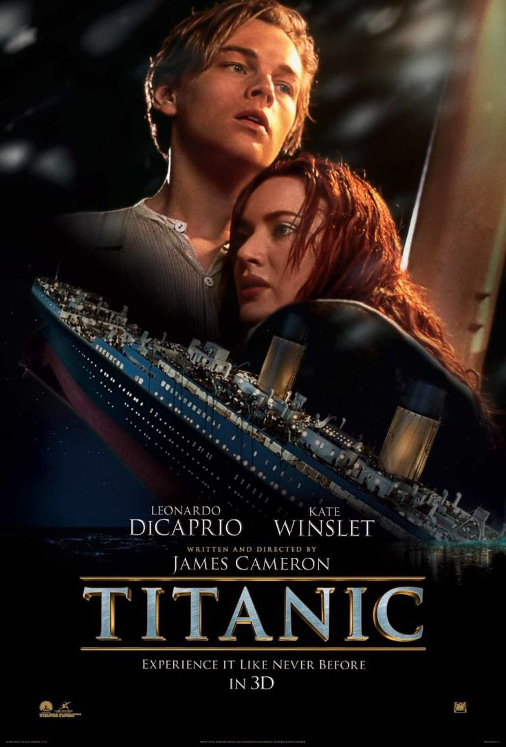 """Titanic""(1997).Directed by James Cameron. Starring: Leonardo DiCaprio, Kate Winslet, Billy Zane, Bill Paxton. It's a disaster movie which shows the tragedy of the legendary ship ""Titanic"", the behaviour of people in the extreme situations.  Recommended age-12+"