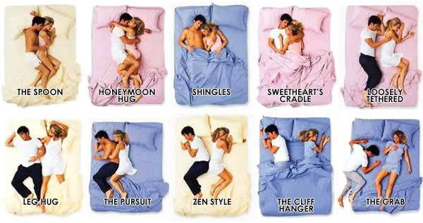 Couples sleeping positions :)
