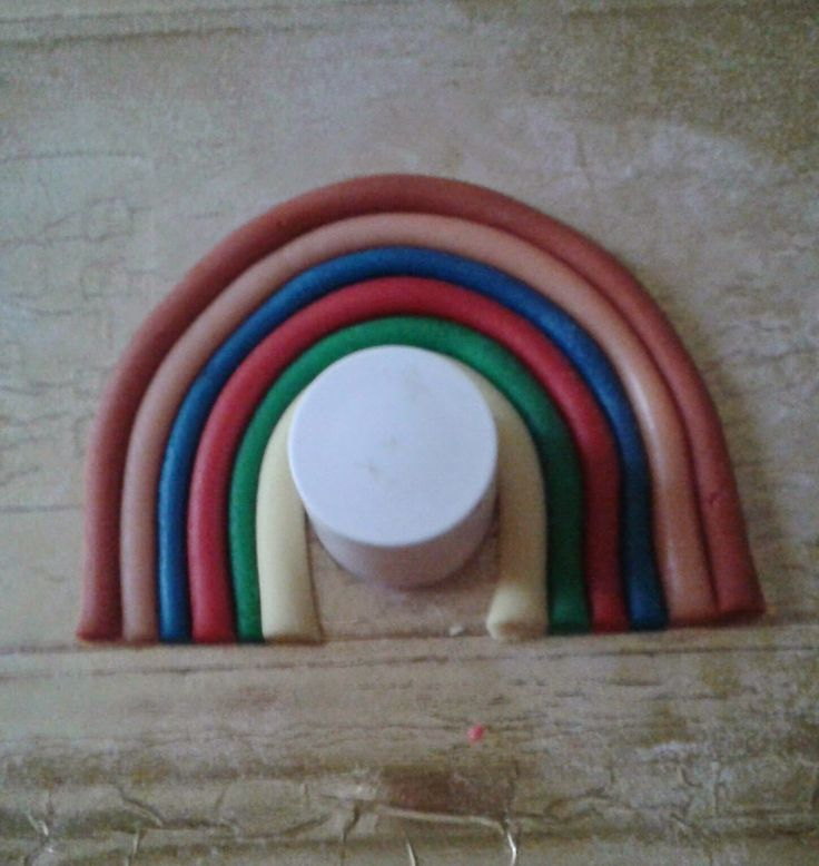 Centomilaidee: Come fare l'arcobaleno e le nuvolette in pdz