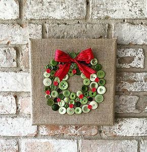 Arte de guirnalda de Navidad arpillera botón por TheBlueBootTX