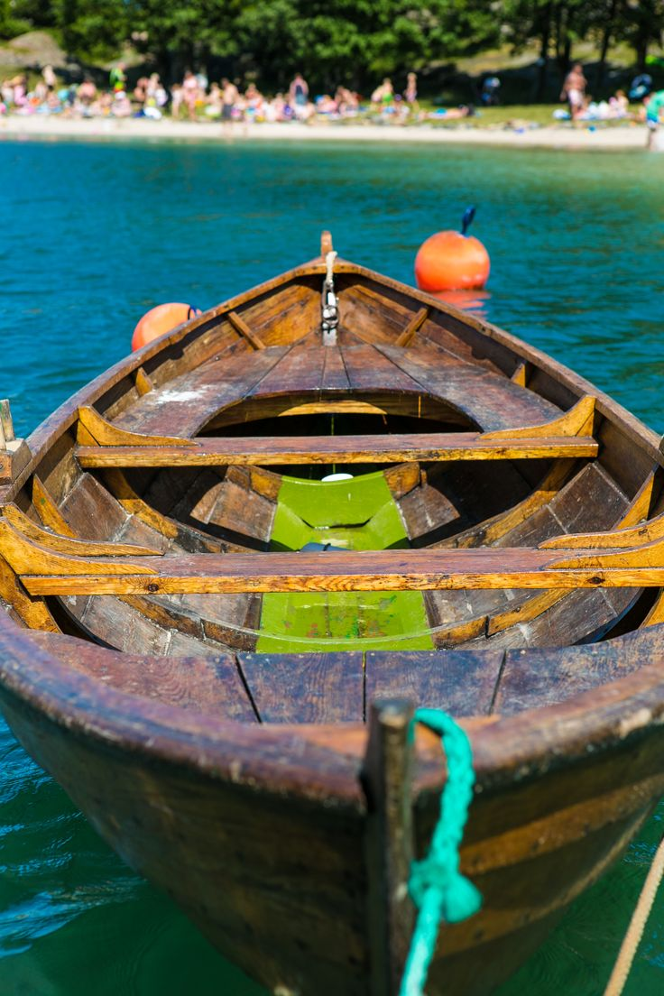 Traditional wooden boat at Bragdøya in Kristiansand. Foto: Adam Read©Visit Southern Norway