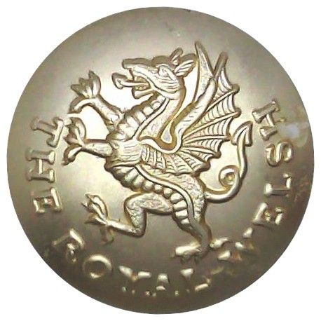 Royal Welsh Stay-bright No 2 Dress uniform button.