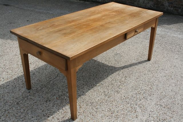 beautiful ash small table with two drawers. this can be used in