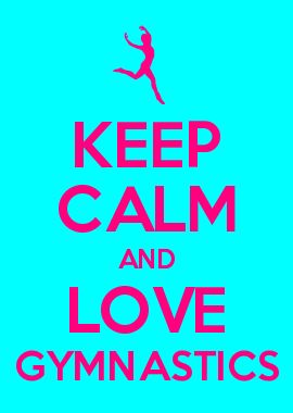 KEEP CALM AND LOVE GYMNASTICS- camp door :)