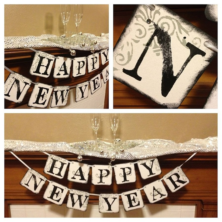 happy new year banner new years party decoration sign garland classic banners 1850 via etsy new year decor diy pinterest garlands and banners