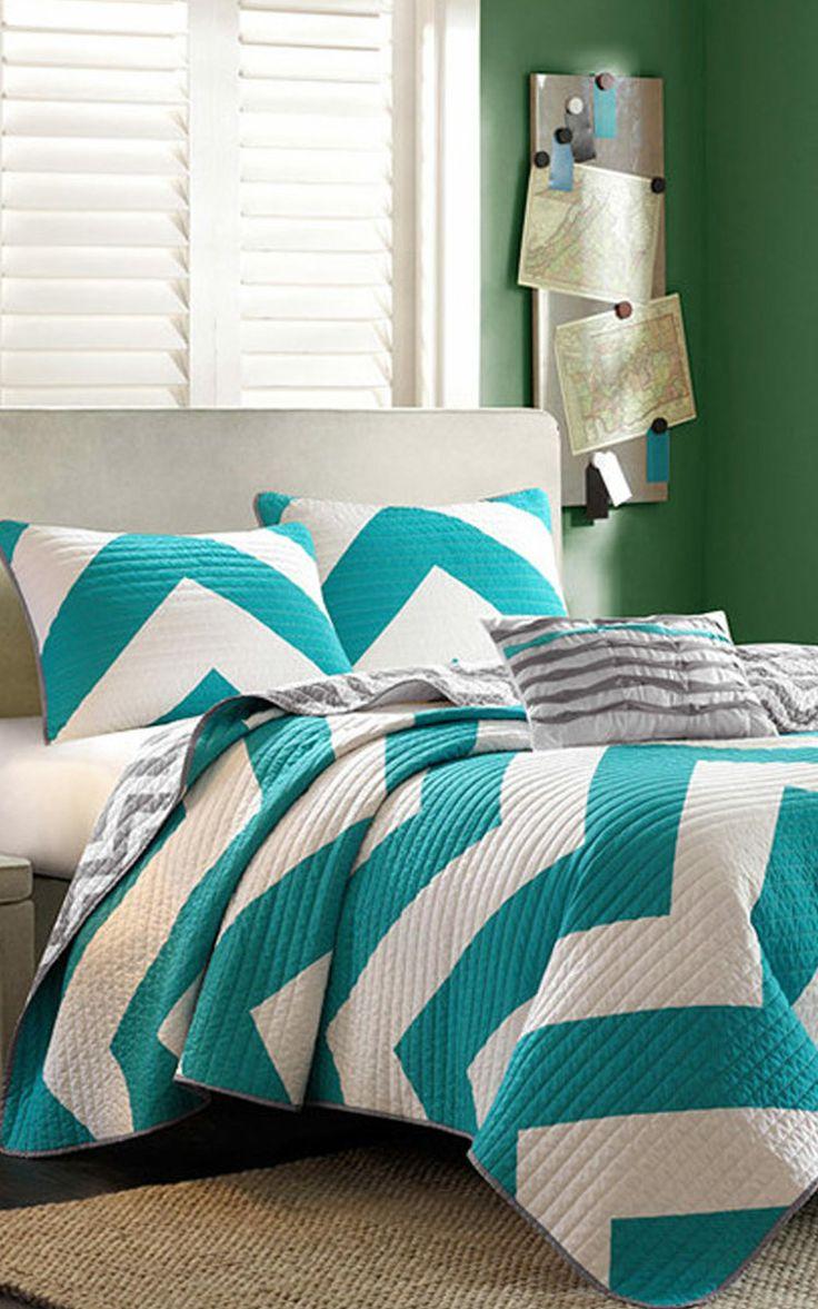 blue comforter ip chevron solid walmart green bedding com microfiber to reverse