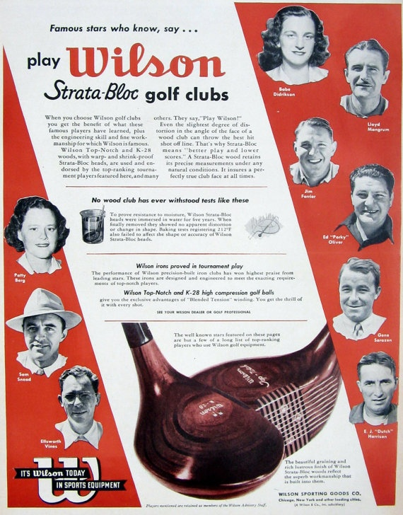 1948 Sports Equipment ad Wilson Golf Clubs by MyPaperedPast