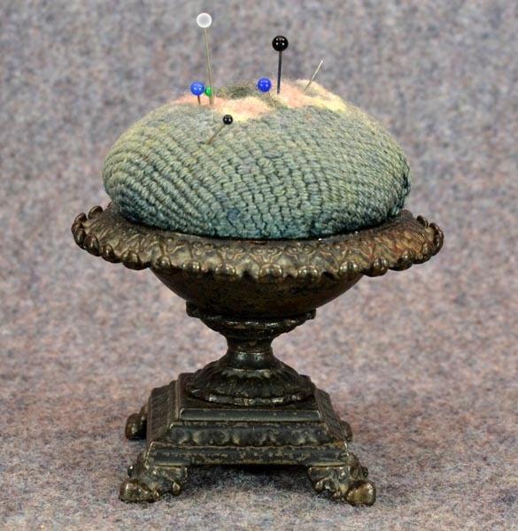 Antique 1800s cast iron pincushion, ebay